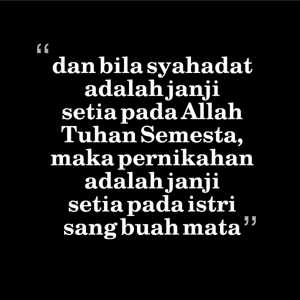 Da bila syahadat adalah janji setia pada Alah Tuhan Semesta DP BBM Islami