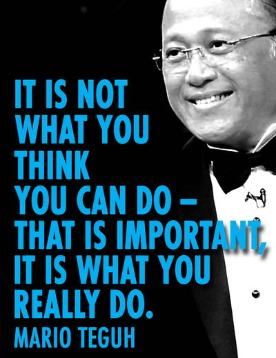 It is not What you Think You Can Do DP BBM Mario Teguh