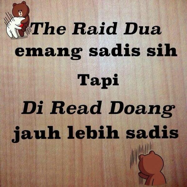 DP BBM Sabar The Raid Dua Emang Sadis Sih