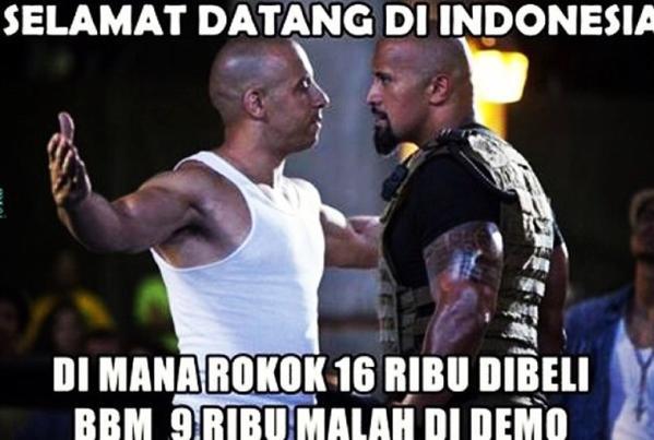 DP BBM Sayang Selamat Datang Di Indonesia Dimana Rokok 16 Ribu Di Beli