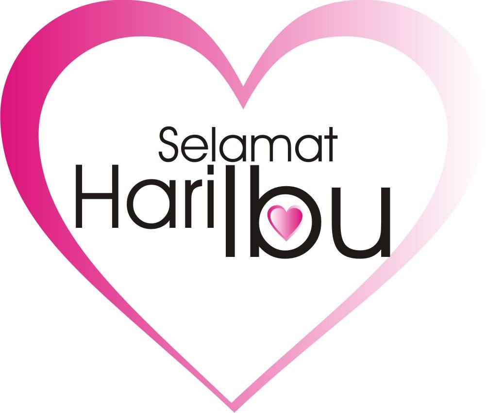 DP BBM Selamat Hari Ibu Warna Pink Love Background Putih