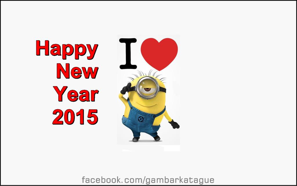 Gambar DP BBM I Love Happy New Year 2015