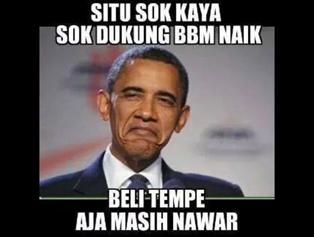 DP BBM Lucu Situ Sok Kaya Sok Dukung Bbm Naik