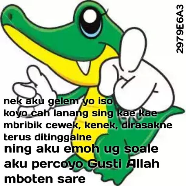 DP BBM Romantis Nek Aku Gelem Yo Iso Dadi Cang Lanang Kae