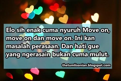 DP BBM Sedih Elo Sih Enak Cuma Nyuruh Move On